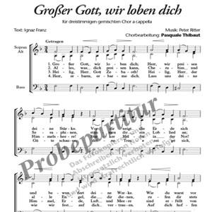 Kirchenlied Großer Gott Wir Loben Dich