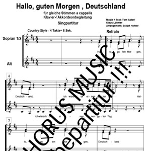 Hallo Guten Morgen Deutschland Arno Musikverlag