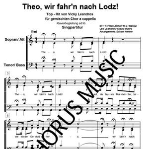 0094theo Wir Fahrn Nach Lodz Sgpdf Arno Musikverlag