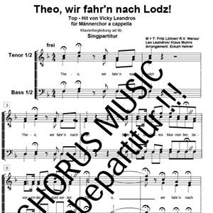 Theo Wir Fahrn Nach Lodz Arno Musikverlag